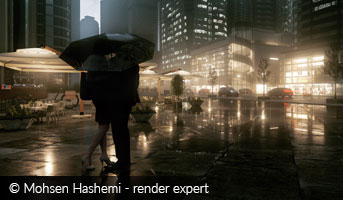 Mohsen Hashemi Render Expert Kiss in the Rain 3D contest