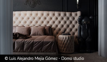 luis alejandro mejia-gómez dark bedroom interior