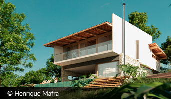henrique mafra modern house on the hill