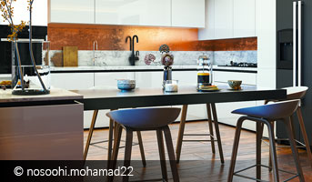 mohamad nosoohi wooden and marble kitchen