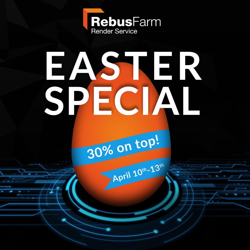 RebusFarm Easter Special 30% on top